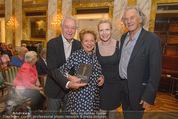 Die Öscars Buchpräsentation - Hotel Imperial - Mi 16.09.2015 - Harald und Ingeborg SERAFIN, Sunnyi MELLES, Erich SCHLEYER27