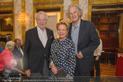 Die Öscars Buchpräsentation - Hotel Imperial - Mi 16.09.2015 - Harald und Ingeborg SERAFIN, Erich SCHLEYER28