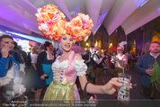 Almdudler Trachtenprächenball - Rathaus - Fr 25.09.2015 - Gast mit Blumen-Kopfschmuck330