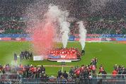 Österreich - Liechtenstein - Ernst Happel Stadion - Mo 12.10.2015 - Ehrung der Spieler am Podest, Feier, Party73