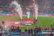 Österreich - Liechtenstein - Ernst Happel Stadion - Mo 12.10.2015 - Ehrung der Spieler am Podest, Feier, Party75