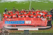 Österreich - Liechtenstein - Ernst Happel Stadion - Mo 12.10.2015 - Ehrung der Spieler am Podest, Feier, Party81