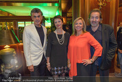 Viennale Cocktail - Hotel Intercontinental - Mi 14.10.2015 - Michael TOJNER, Hans HURCH, Daniela ENZI, Brigitte TRATTNER21