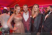 10 Jahre Lena Hoschek - Palazzo - Do 05.11.2015 - Vera (B�HNISCH) mit Schwester Eva und Franz Joseph DOPPLER84