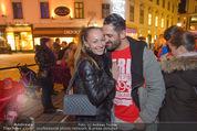 Heute Charitypunsch - Christkindlmarkt Stephansplatz - So 15.11.2015 - Ines und Fadi MERZA22