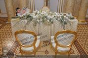 Anna Netrebko Hochzeit - Trauung - Palais Coburg - Di 29.12.2015 - Trauungstisch5