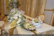 Anna Netrebko Hochzeit - Trauung - Palais Coburg - Di 29.12.2015 - Trauungstisch6