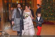 Anna Netrebko Hochzeit - Feier - Palais Liechtenstein - Di 29.12.2015 - Anna NETREBKO mit Sohn Tiago, Yusif EYVAZOV11