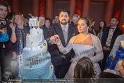 Anna Netrebko Hochzeit - Feier - Palais Liechtenstein - Di 29.12.2015 - Anna NETREBKO, Yusif EYVAZOV schneiden Hochzeitstorte an159