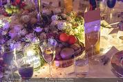 Anna Netrebko Hochzeit - Feier - Palais Liechtenstein - Di 29.12.2015 - Tischgedeck, Dekoration, Schmuck173