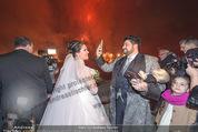 Anna Netrebko Hochzeit - Feier - Palais Liechtenstein - Di 29.12.2015 - Anna NETREBKO, Yusif EYVAZOV beim Feuerwerk27