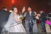 Anna Netrebko Hochzeit - Feier - Palais Liechtenstein - Di 29.12.2015 - Anna NETREBKO, Yusif EYVAZOV beim Feuerwerk28