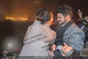 Anna Netrebko Hochzeit - Feier - Palais Liechtenstein - Di 29.12.2015 - Anna NETREBKO, Yusif EYVAZOV beim Feuerwerk32