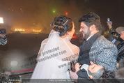 Anna Netrebko Hochzeit - Feier - Palais Liechtenstein - Di 29.12.2015 - Anna NETREBKO, Yusif EYVAZOV beim Feuerwerk33