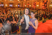 Silvesterball - Hofburg - Do 31.12.2015 - P�rchen aus England (Manchester) verlobt sich auf der B�hne258