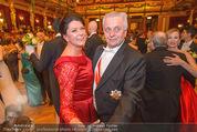 Philharmonikerball 2016 - Wiener Musikverein - Do 21.01.2016 - Rudolf HUNDSTORFER mit Ehefrau Karin136