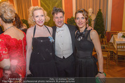 Philharmonikerball 2016 - Wiener Musikverein - Do 21.01.2016 - Tobias MORETTI mit Ehefrau Julia, Sunnyi MELLES90