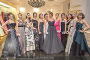 Opernball Couture Salon - Popp & Kretschmer - Mi 27.01.2016 - Gruppenfoto Solistinnen in Kleidern64
