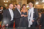 Opernball - Red Carpet - Staatsoper - Do 04.02.2016 - Dominique MEYER, Olga PERETYATKO, Placido DOMINGO30