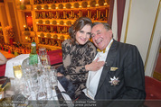 Opernball - Das Fest - Staatsoper - Do 04.02.2016 - Brooke SHIELDS, Richard LUGNER8