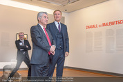 Chagall bis Malewitsch Ausstellungseröffnung - Albertina - Do 25.02.2016 - Klaus Albrecht SCHR�DER, Heinz FISCHER2