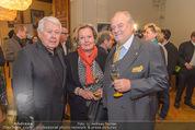 Falstaff Restaurantguide - Rathaus - Mi 16.03.2016 - Peter WECK, Lisl WAGNER-BACHER mit Ehemann Klaus28