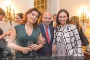 Empfang für Dominique Meyer - Privatwohnung Sarata - Mi 18.05.2016 - Marina REBEKA, Dominique MEYER, Aida GARIFULLINA24