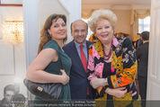 Empfang für Dominique Meyer - Privatwohnung Sarata - Mi 18.05.2016 - Marina REBEKA, Dominique MEYER, Birgit SARATA7