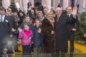 Erwin Pröll 70er Geburtstagsfeier - Stift Göttweig - Sa 17.12.2016 - Erwin PR�LL mit Ehefrau Sissi (Elisabeth) und Familie (Tochter)29
