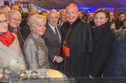 Erwin Pröll 70er Geburtstagsfeier - Stift Göttweig - Sa 17.12.2016 - Erwin und Sissi PR�LL, Kardinal Christoph SCH�NBORN, U. STRAUS52
