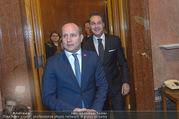 Angelobung Bundespräsident - Parlament und Volksgarten - Do 26.01.2017 - Matthias STROLZ, Heinz Christian STRACHE26