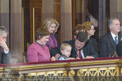 Angelobung Bundespräsident - Parlament und Volksgarten - Do 26.01.2017 - Enkelkind von Alexander van der Bellen, Tochter, Sohn66