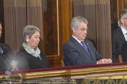 Angelobung Bundespräsident - Parlament und Volksgarten - Do 26.01.2017 - Margit und Heinz FISCHER70