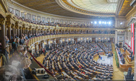 Angelobung Bundespräsident - Parlament und Volksgarten - Do 26.01.2017 - Plenarsitzungssaal Parlament, Innenraum71