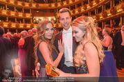 Opernball 2017 - Staatsoper - Do 23.02.2017 - Gina-Lisa LOHFINK, Florian WESS, Cathy LUGNER auf der Tanzfl�ch271