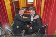 Opernball 2017 - Staatsoper - Do 23.02.2017 - Kari HOHENLOHE, Christoph WAGNER-TRENKWITZ im neuen Kammerl ORF302
