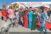 Lifeball Flieger Ankunft - Flughafen Wien Schwechat - Fr 09.06.2017 - Lifeball-G�ste, partypeople92