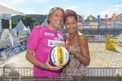 Promi Beachvolleyball - Strandbad Baden - Mi 14.06.2017 - Norbert BLECHA mit Freundin Monika6