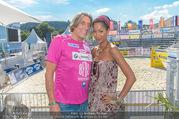 Promi Beachvolleyball - Strandbad Baden - Mi 14.06.2017 - Norbert BLECHA mit Freundin Monika8