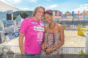 Promi Beachvolleyball - Strandbad Baden - Mi 14.06.2017 - Norbert BLECHA mit Freundin Monika9