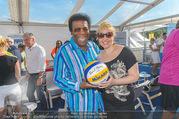Promi Beachvolleyball - Strandbad Baden - Mi 14.06.2017 - Roberto BLANCO mit Ehefrau Luzandra29
