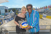 Promi Beachvolleyball - Strandbad Baden - Mi 14.06.2017 - Roberto BLANCO mit Ehefrau Luzandra42
