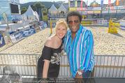 Promi Beachvolleyball - Strandbad Baden - Mi 14.06.2017 - Roberto BLANCO mit Ehefrau Luzandra45