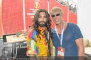 Beachvolleyball - Donauinsel - Sa 05.08.2017 - Conchita WURST, Dominic HEINZL1