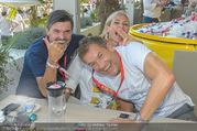 Beachvolleyball - Donauinsel - Sa 05.08.2017 - Hubert Hupo NEUPER mit Ehefrau Claudia Hubert Hupo und Claudia N25