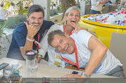 Beachvolleyball - Donauinsel - Sa 05.08.2017 - Hubert Hupo NEUPER mit Ehefrau Claudia Hubert Hupo und Claudia N26