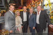 Opening - El Gaucho Rochusmarkt - Mi 20.09.2017 - Franz GROSSAUER mit Sohn Michael, dessen Ehefrau Simone, Frank H4