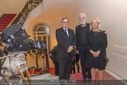 Premierenfeier und Empfang - Französische Botschaft - Mi 04.10.2017 - Fran�ois SAINT PAUL (Botschafter), Michael und Susi HANEKE9