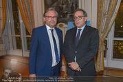 Premierenfeier und Empfang - Französische Botschaft - Mi 04.10.2017 - Fran�ois SAINT PAUL, Alexander WRABETZ29