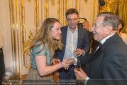 Richard Lugner 85er - Stadtpalais Liechtenstein - Sa 14.10.2017 - Andreas LUGNER mit Tochter Alina, Richard LUGNER46